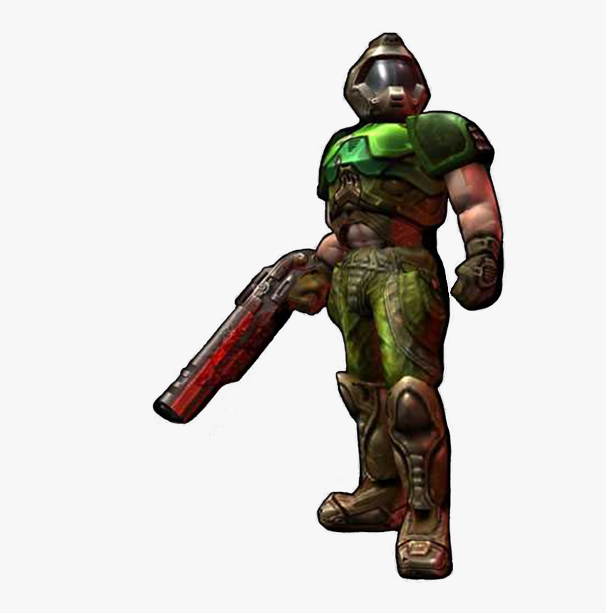 Doom 3 Master Chief Doomguy Doomguy Doom Slayer Hd Png Download