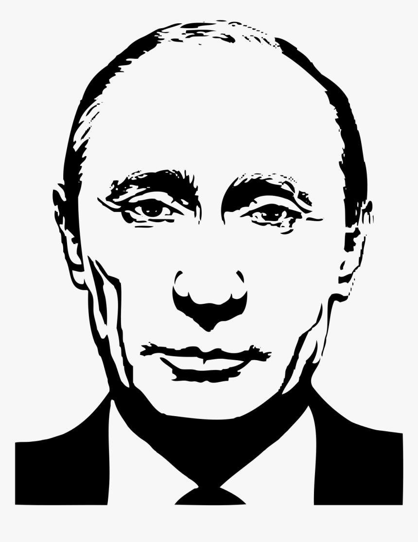 Putin Head Png Putin Black And White Transparent Png Transparent Png Image Pngitem