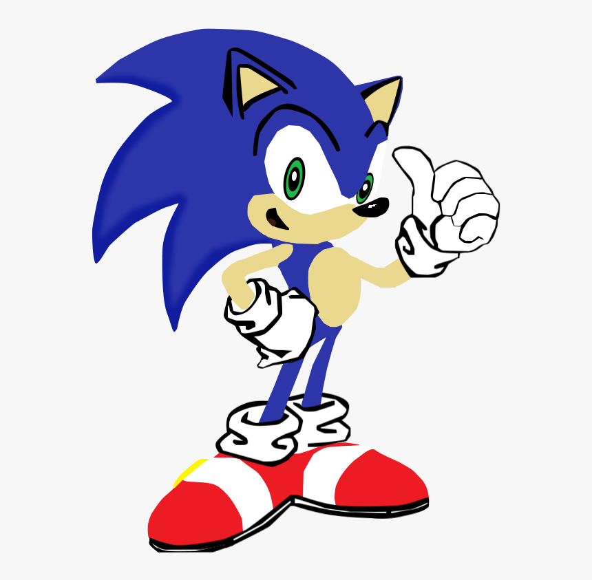My First Vector Of Sonic The Sonic The Hedgehog Winking Hd Png Download Transparent Png Image Pngitem