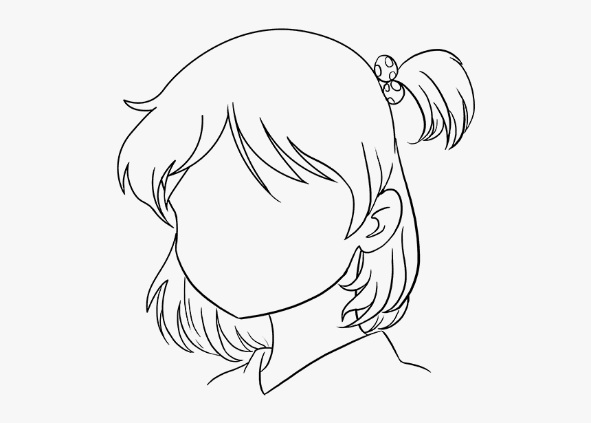 How To Draw Anime Girl Face Easy Drawing Cute Anime Girl Hd Png