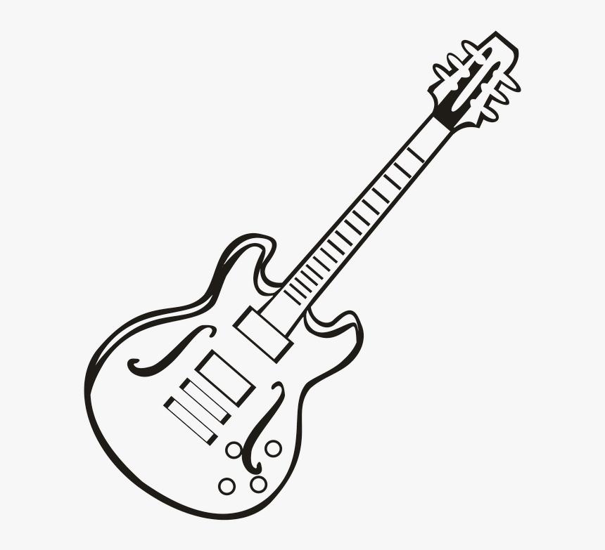 Guitar Music Instrument Music Notes Vector Drawing Bass Guitar Hd Png Download Transparent Png Image Pngitem