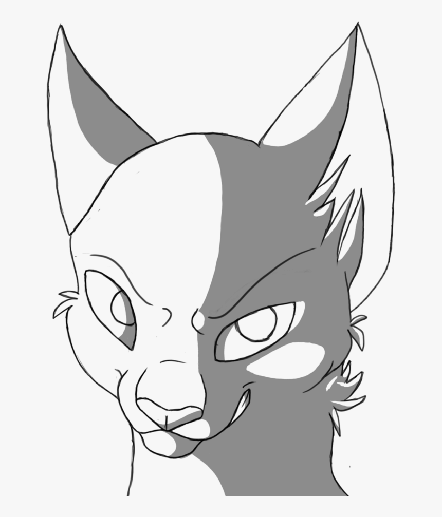 Transparent Black And White Anime Png Warrior Cat Drawings Easy Png Download Transparent Png Image Pngitem