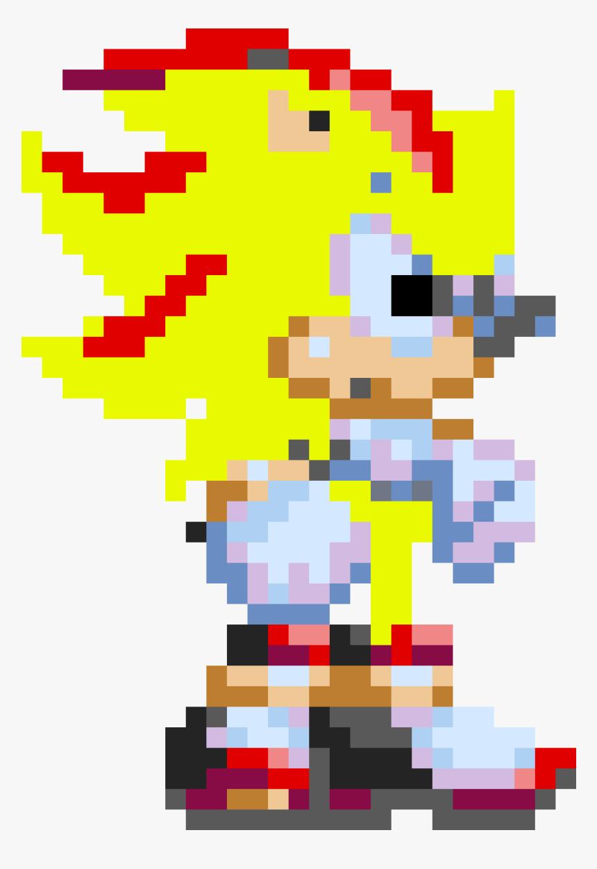 Shadow The Hedgehog Pixel Art Hd Png Download Transparent Png Image Pngitem