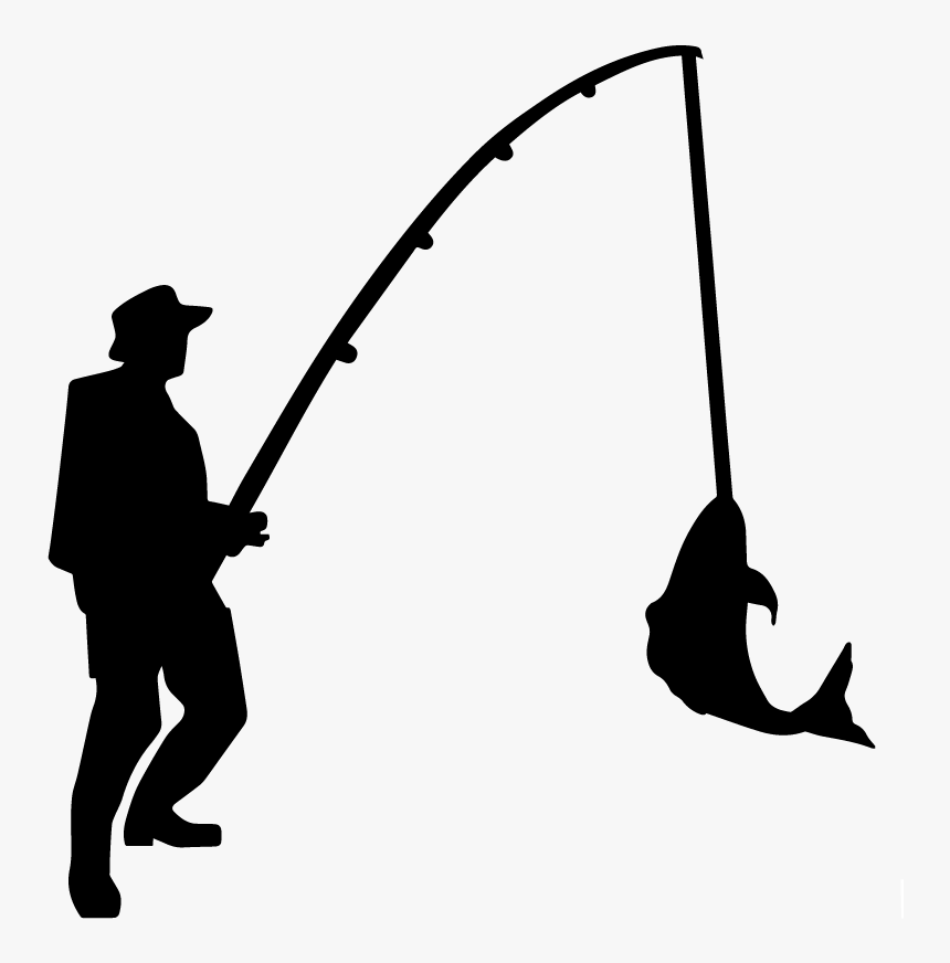Download Transparent Fisherman Silhouette Png Man Fishing Silhouette Png Download Transparent Png Image Pngitem