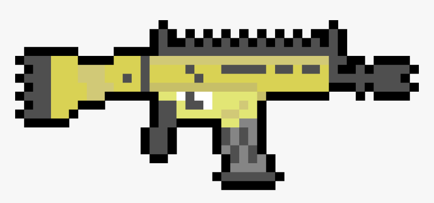 Minecraft Pixel Art Fortnite Scar Fortnite Guns Pixel Art