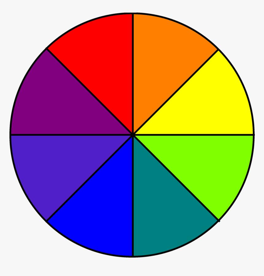 Eight Colour Wheel 2d Color Wheel 8 Parts Hd Png Download Transparent Png Image Pngitem