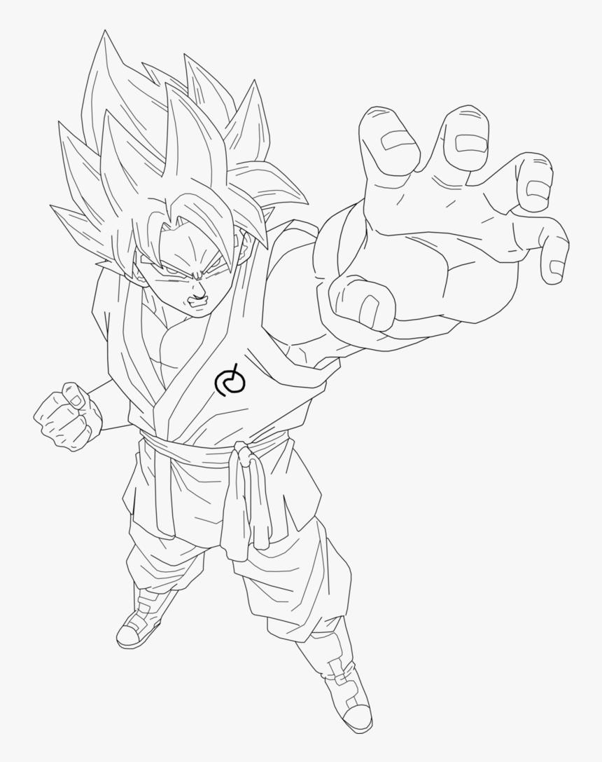 Super Saiyan Aura Lineart Kaioken Ssj Blue Goku Drawing
