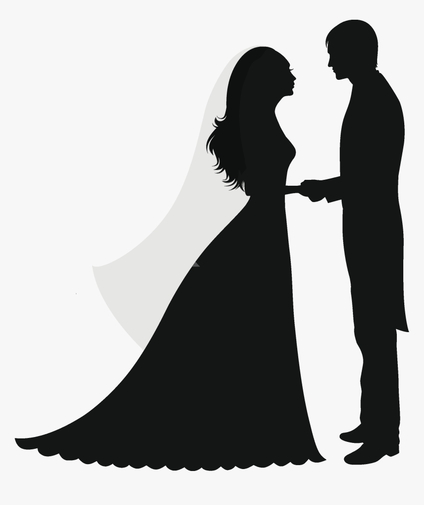 Wedding Invitation Silhouette Marriage Couple Wedding Silhouette No Background Hd Png Download Transparent Png Image Pngitem