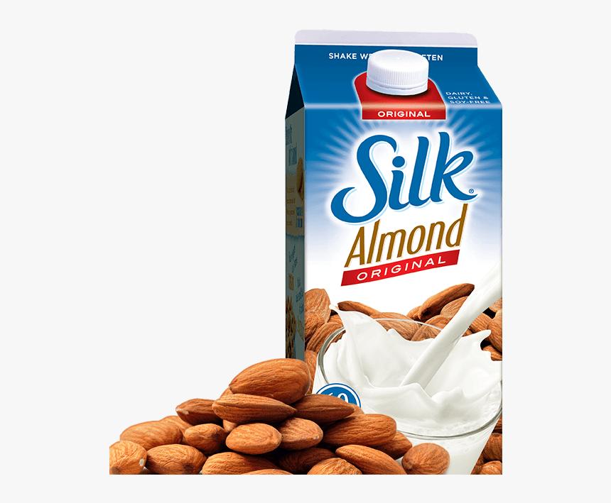 Silk Almond Milk Unsweetened, HD Png