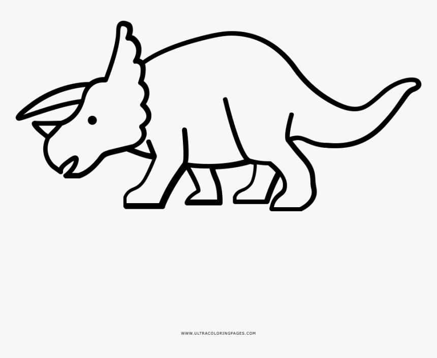 Triceratops Coloring Page Desenhar Um Triceratops Hd Png Download Transparent Png Image Pngitem