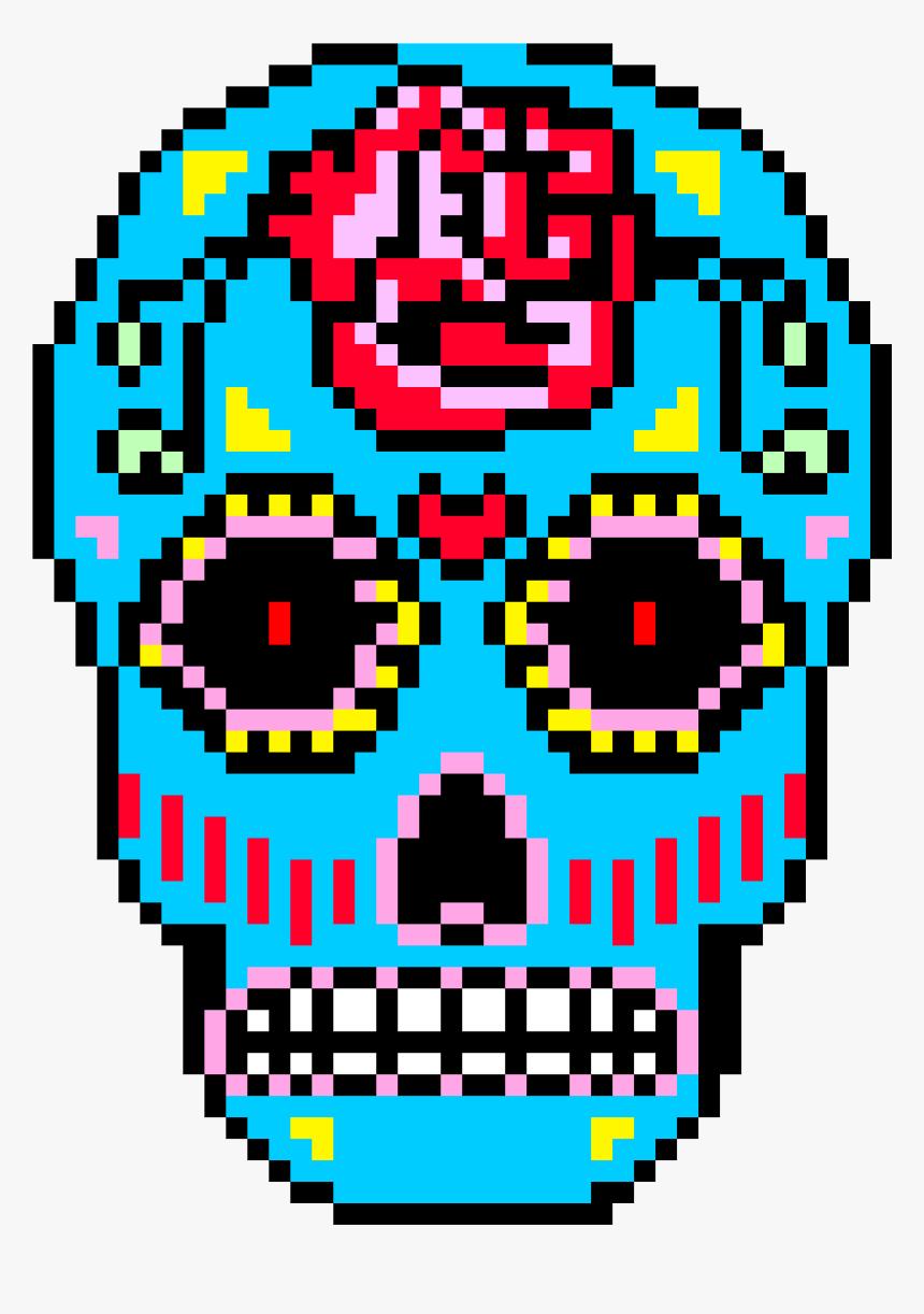 Sugar Skull Pixel Art Dessin Pixel De Tete De Mort Hd Png
