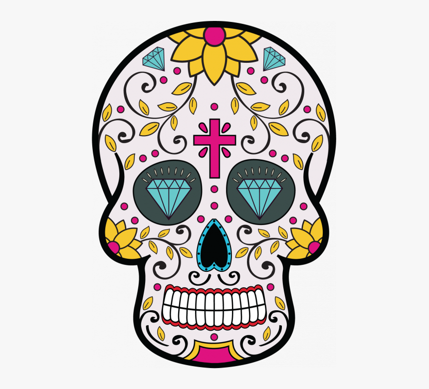 Tete De Mort Mexicaine Day Of The Dead Flyer Hd Png