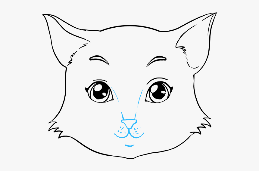 Clip Art How To Draw Cat Ears Cat Face Without Whiskers Hd Png Download Transparent Png Image Pngitem