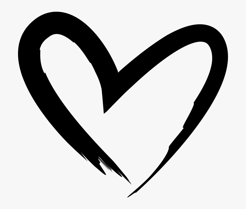 Transparent Heart Drawings Png Drawn Black Heart Transparent