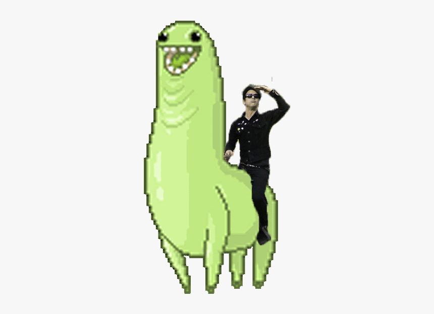 Dance Gif Png Meme Transparent Funnypictures Green Llama Png Download Transparent Png Image Pngitem