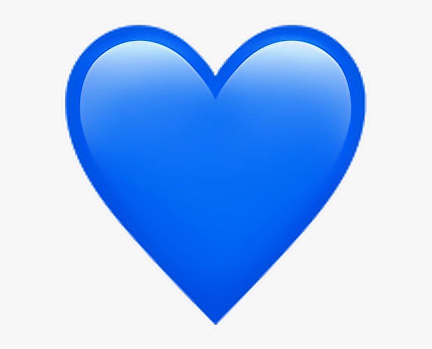 Blue Heart Emoji Png - Heart, Transparent Png , Transparent Png ...