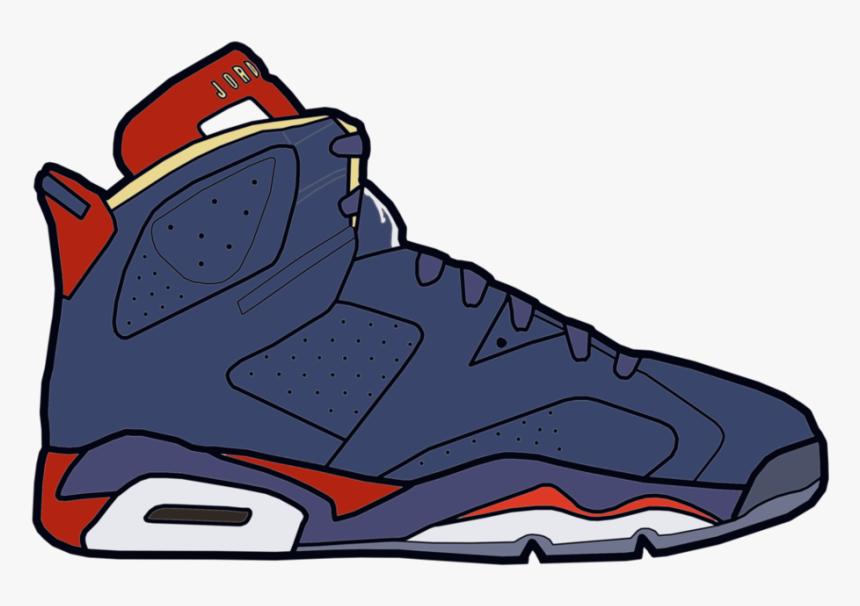 Jumpman Air Jordan Shoe Drawing