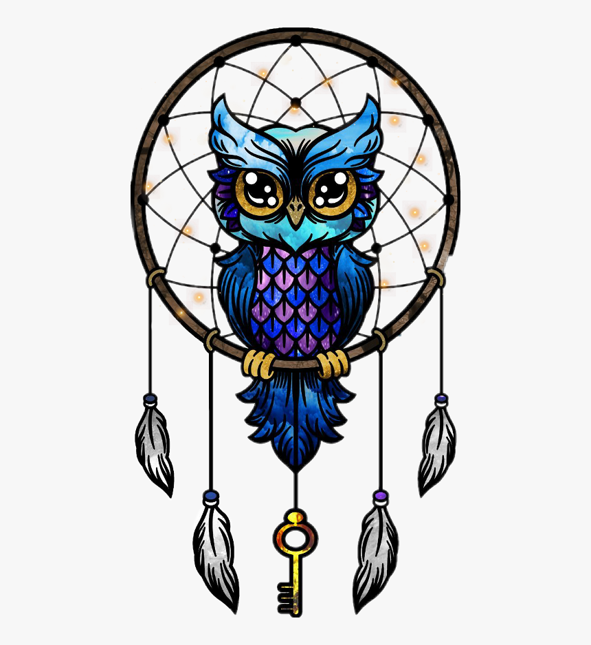 - Owl Mandala Dreamcatcher Image Drawing - Owl Dream Catcher Colored