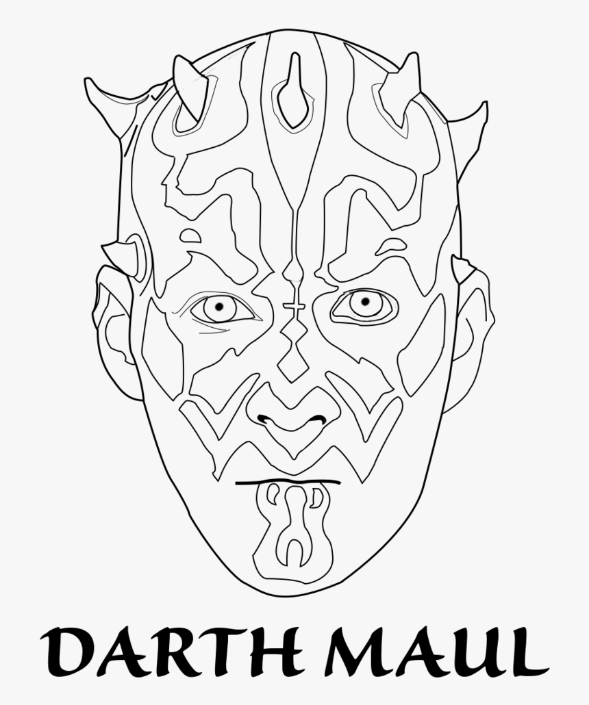 Darth Maul Face Templates Coloring Page Star Wars The Clone Wars Darth Maul Coloring Page Hd Png Download Transparent Png Image Pngitem