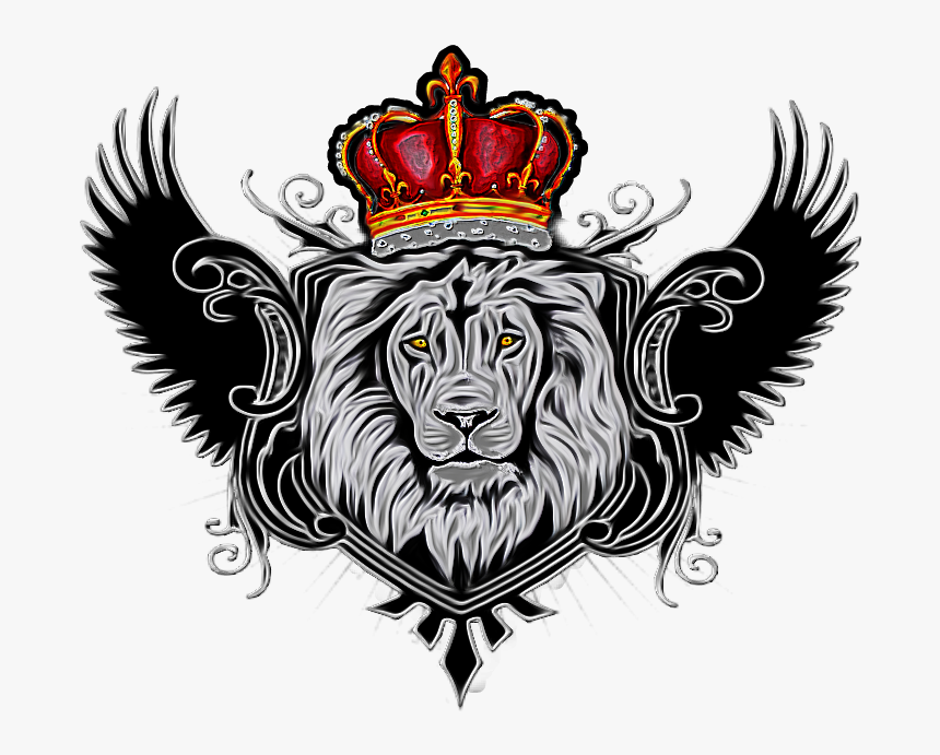 Download Hd Wings Couronne Lion With Crown Png Transparent Png
