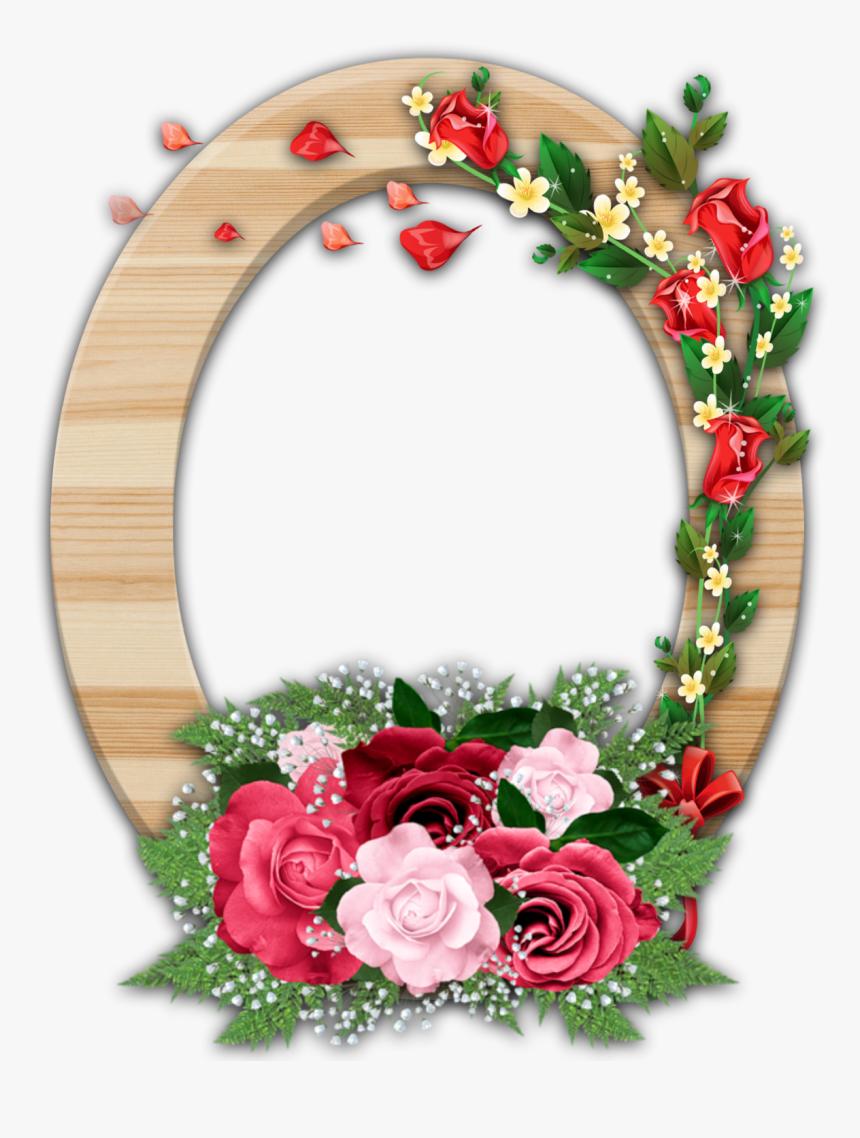 Clipart Flower Frame Frame Border Flower Png Transparent Png