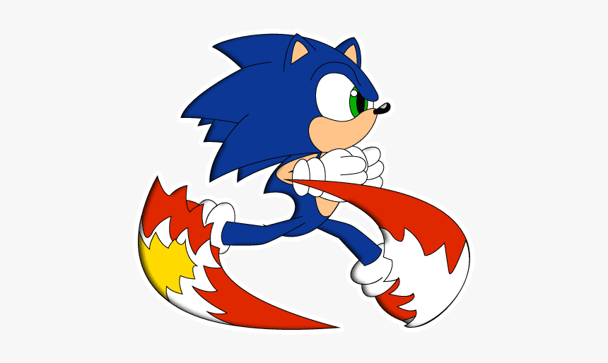 Sonic Hedgehog Running Moving Hd Png Download Transparent Png
