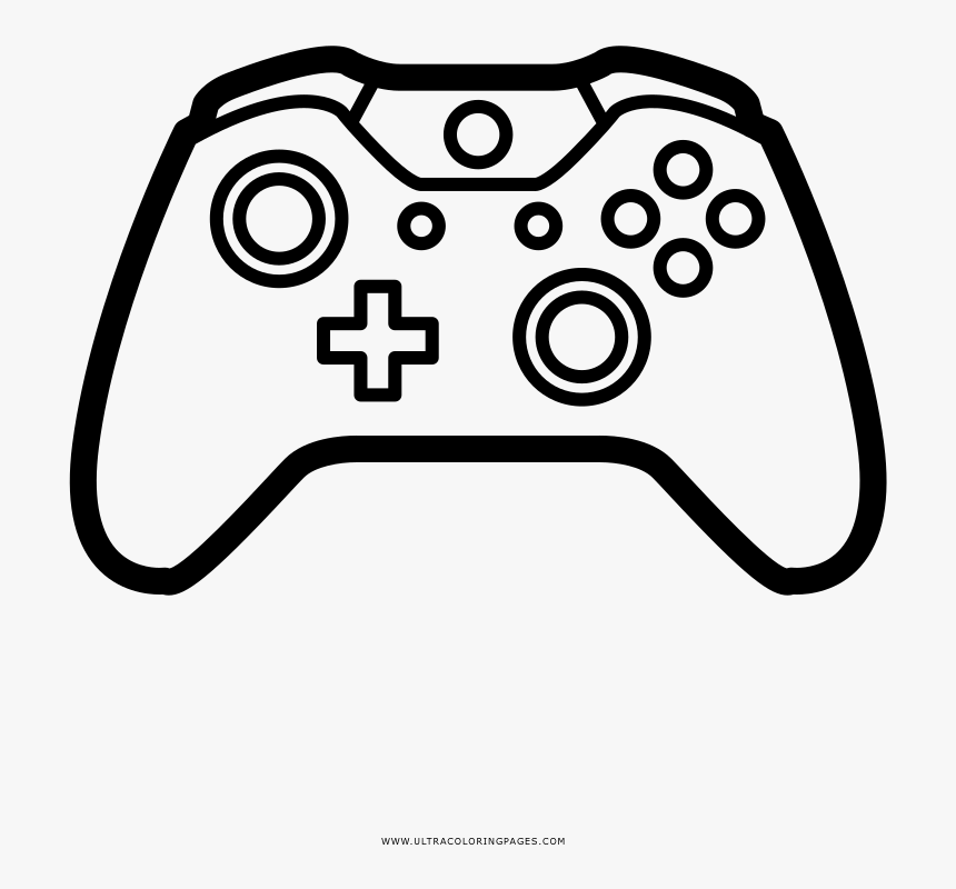 Video Game Controller Coloring Page - Transparent Video ...