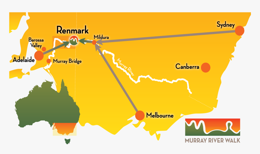 Mrw Getting Here Map - Map Of Australia, HD Png Download ...