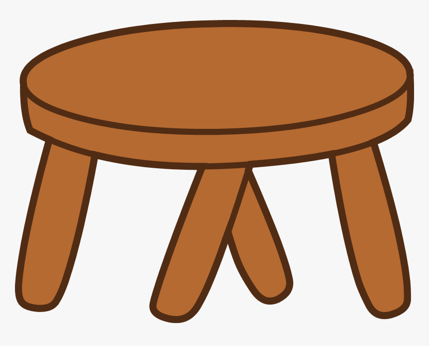 Stool Clipart Cartoon Table Transparent Background Hd Png