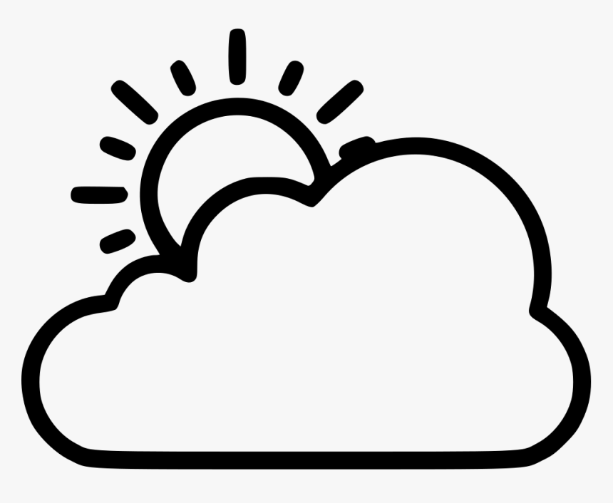 Png Library Clouds Svg Art Sun And Clouds Clipart Black And