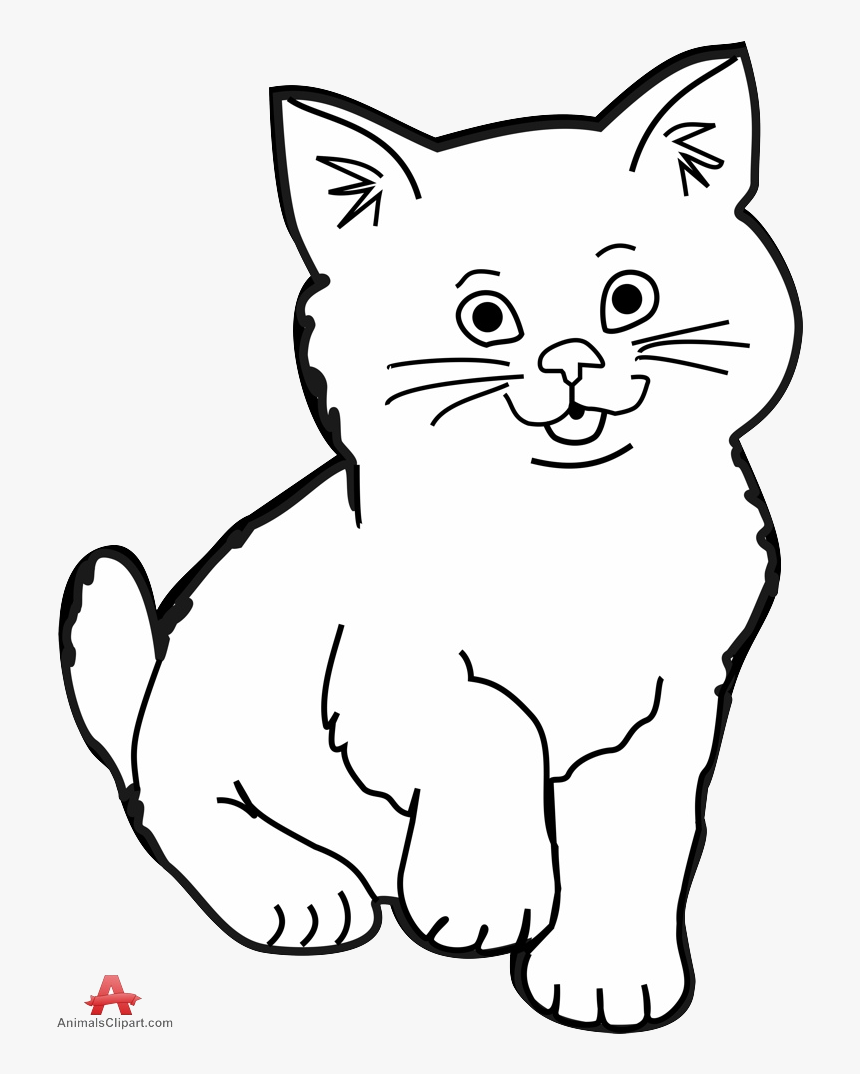 Black Cat White Kitten Clipart Collection Transparent Clip Art Black And White Cat Hd Png Download Transparent Png Image Pngitem