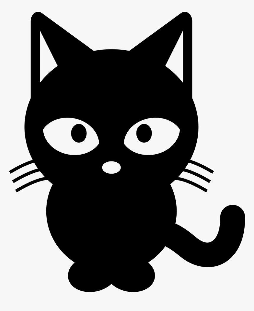 Black Cat And White Black Cat Clipart Black And White Hd Png Download Transparent Png Image Pngitem