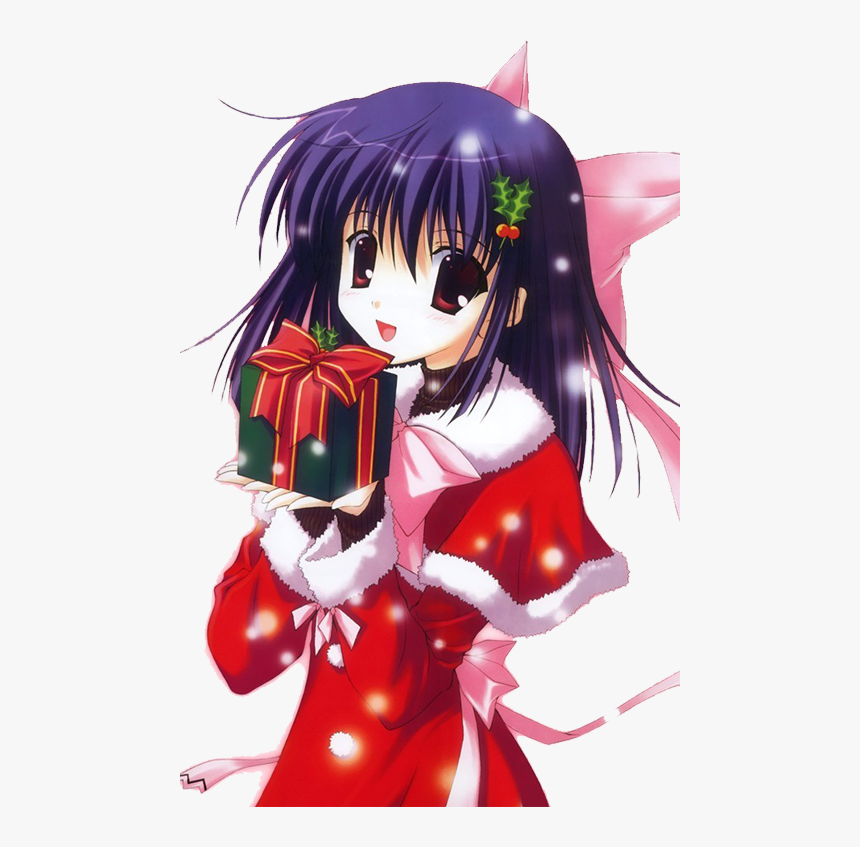 Transparent Anime Girl Christmas Png Christmas Anime Wallpaper Phone Png Download Transparent Png Image Pngitem