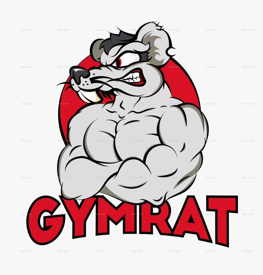 Transparent Muscular System Clipart Gym Rat Logo Cartoon Hd Png Download Transparent Png Image Pngitem