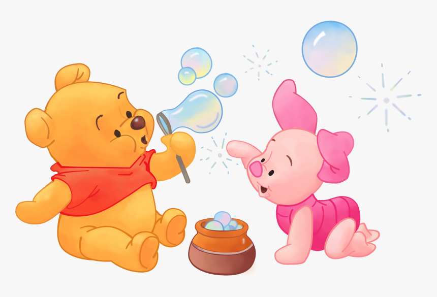 baby winnie the pooh and piglet hd png download