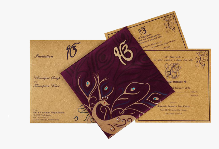 Punjabi Indian Wedding Invitation Cards Punjabi Wedding Card Design Hd Png Download Transparent Png Image Pngitem