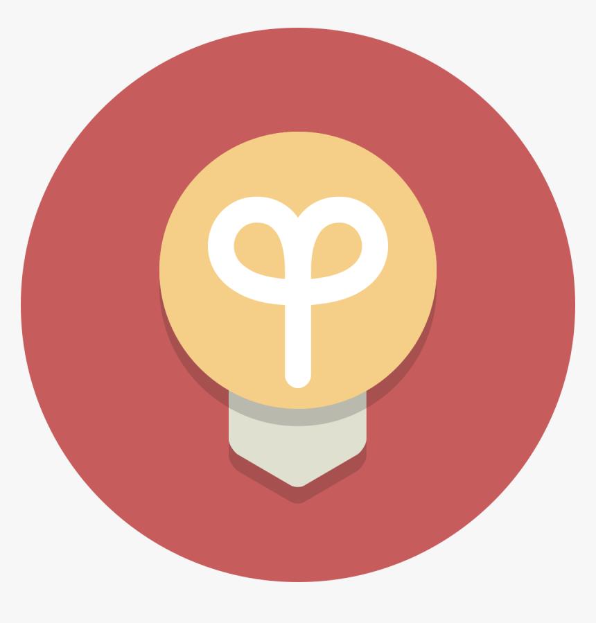 Circle Icons Lightbulb Light Bulb Round Icon Hd Png Download Transparent Png Image Pngitem