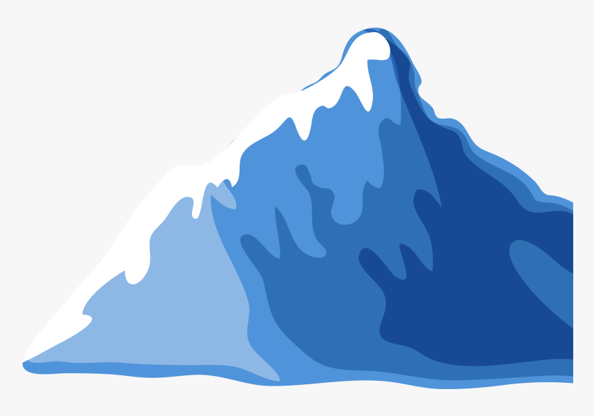 cartoon mountain png transparent tip of the iceberg clipart - cartoon mountain