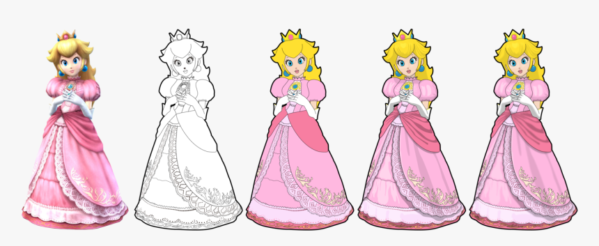 Princess Peach Drawing At Princess Peach Super Smash Bros