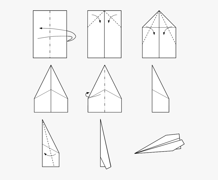 Make Paper Airplane Step By Hd Png Transpa