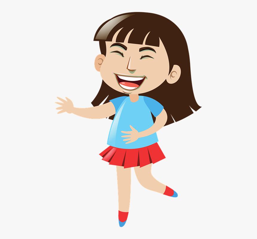 Laughing, Girl, Cartoon, Happy, Smiling, Smile, Female