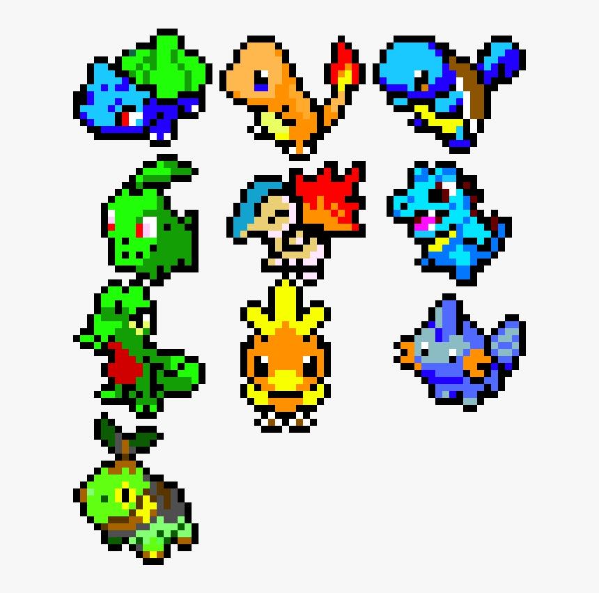 Pixel Art Pokemon Starter Hd Png Download Transparent Png