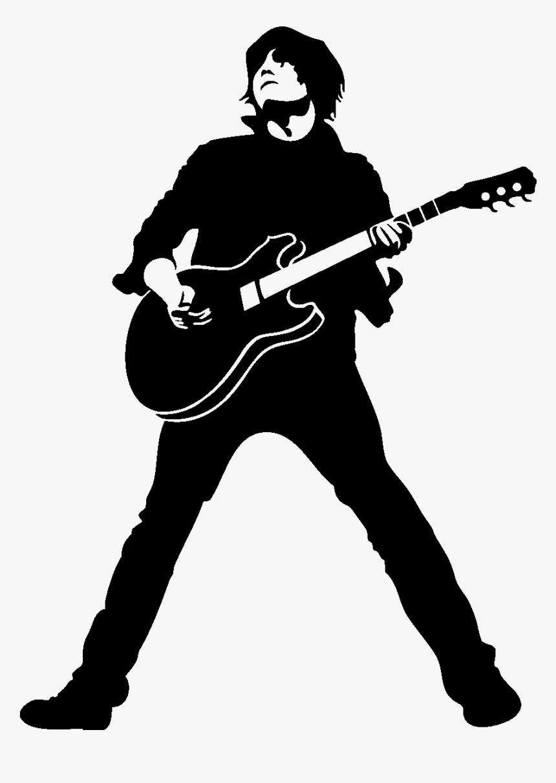 Transparent Guitar Silhouette Png Black Guitarist Png Png Download Transparent Png Image Pngitem