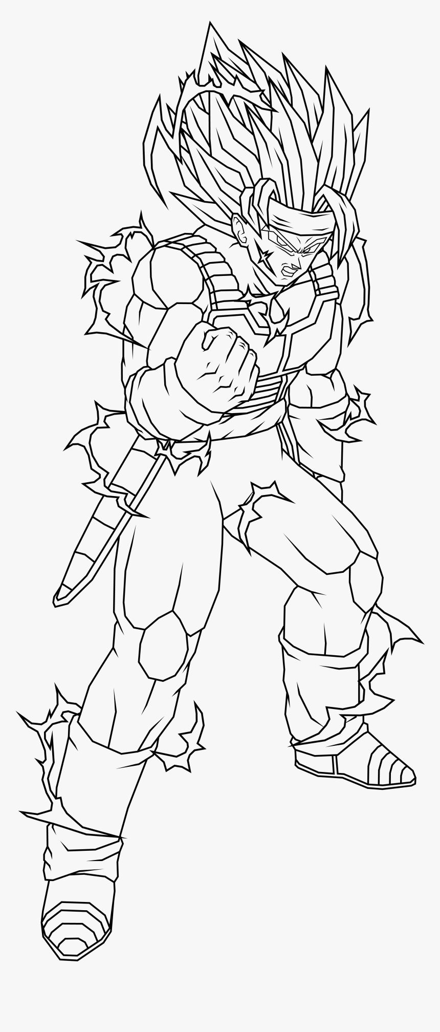 Bardock Coloring Pages 141 Dragon Ball Z Bardock Coloring Pages