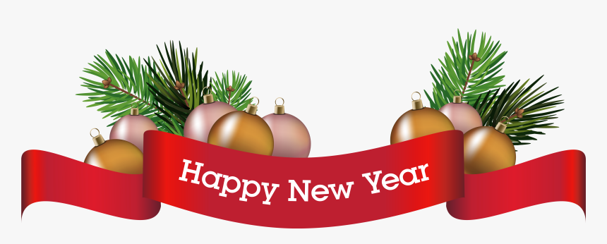 Merry Christmas Banner Png , Happy New Year Decoration Png