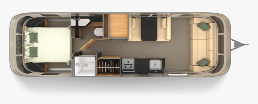 Airstream Floor Plans, HD Png Download
