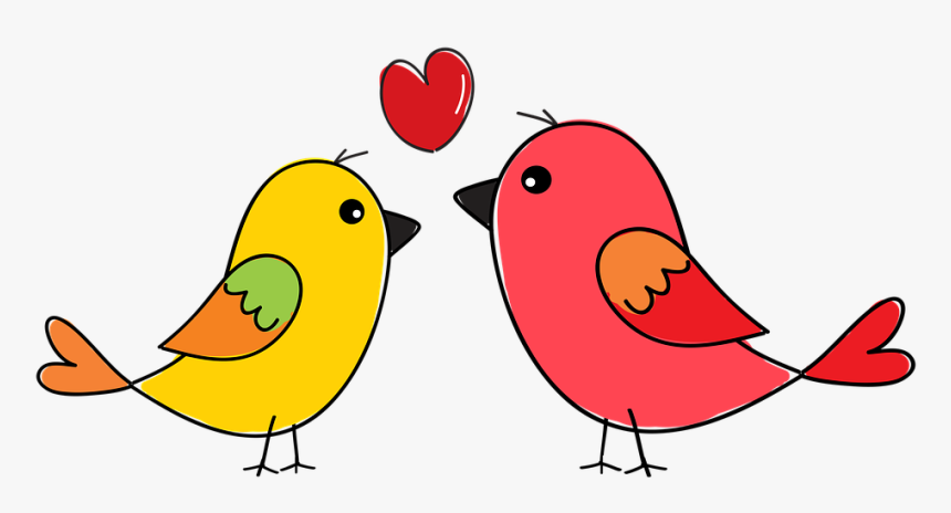 Birds Nature Animals Flying Wing Swan Colorful Love Birds Drawing Images Download Hd Png Download Transparent Png Image Pngitem
