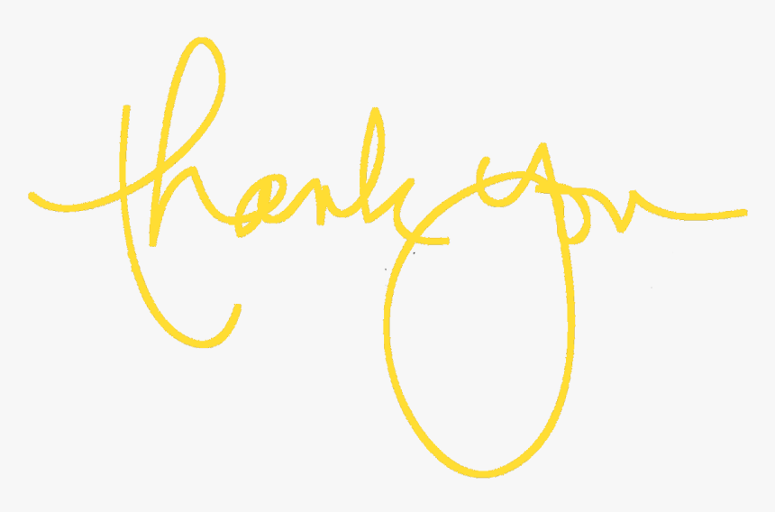 Picture Thank You Yellow Png Transparent Png Transparent Png