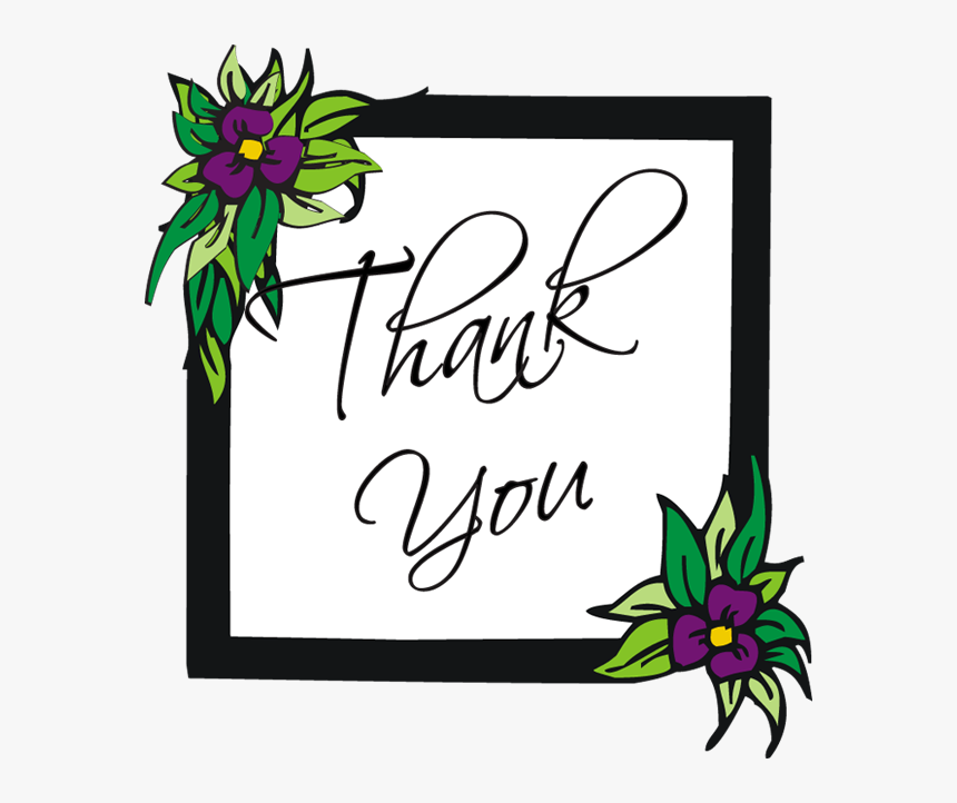Pink Rose Thank You Clipart Free PNG Image|Illustoon