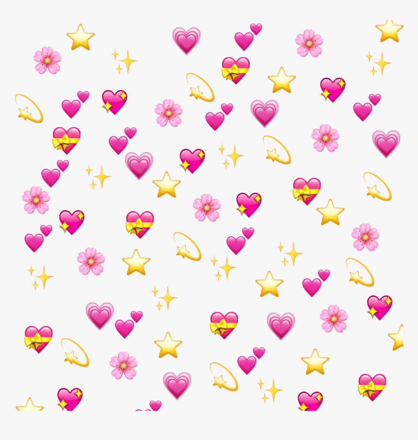 Freetoedit Love Pattern Background Emoji Star Emoji Hearts Emoji Background Png Transparent Png Transparent Png Image Pngitem